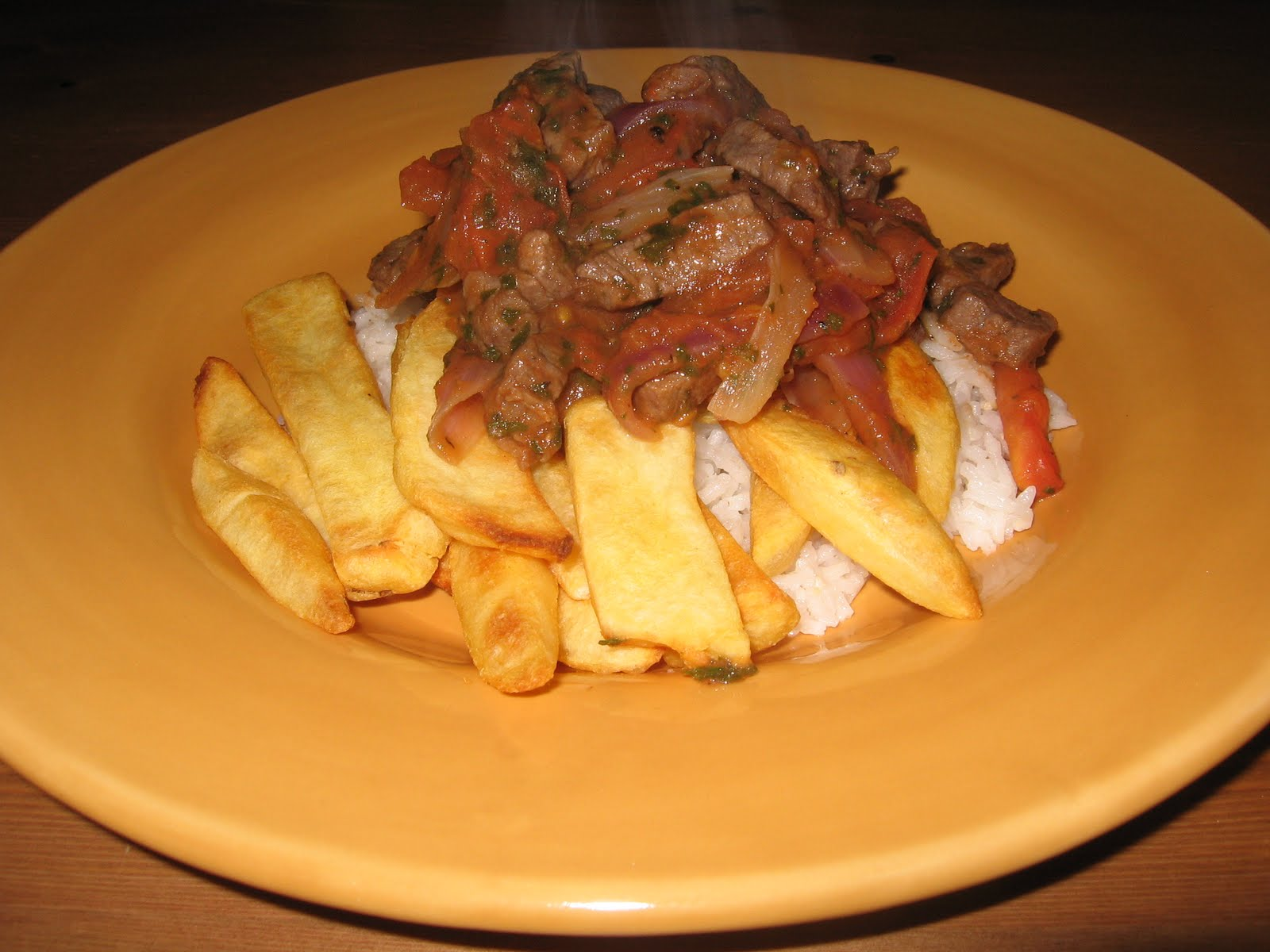 Peruvian Lomo Saltado (not the healthiest of the group, but so yummy!)