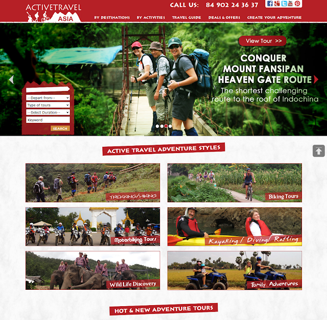 Active Travel Asia new website interface