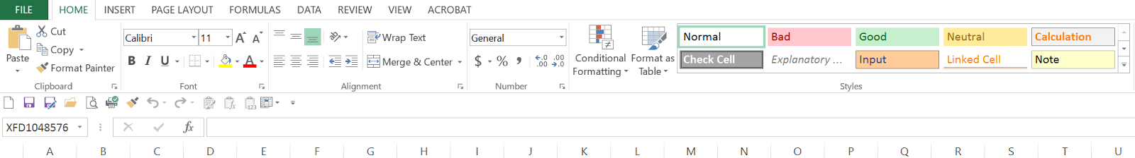 Excel at Home