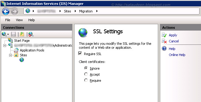sharepoint 2010 ssl certificate installation in IIS