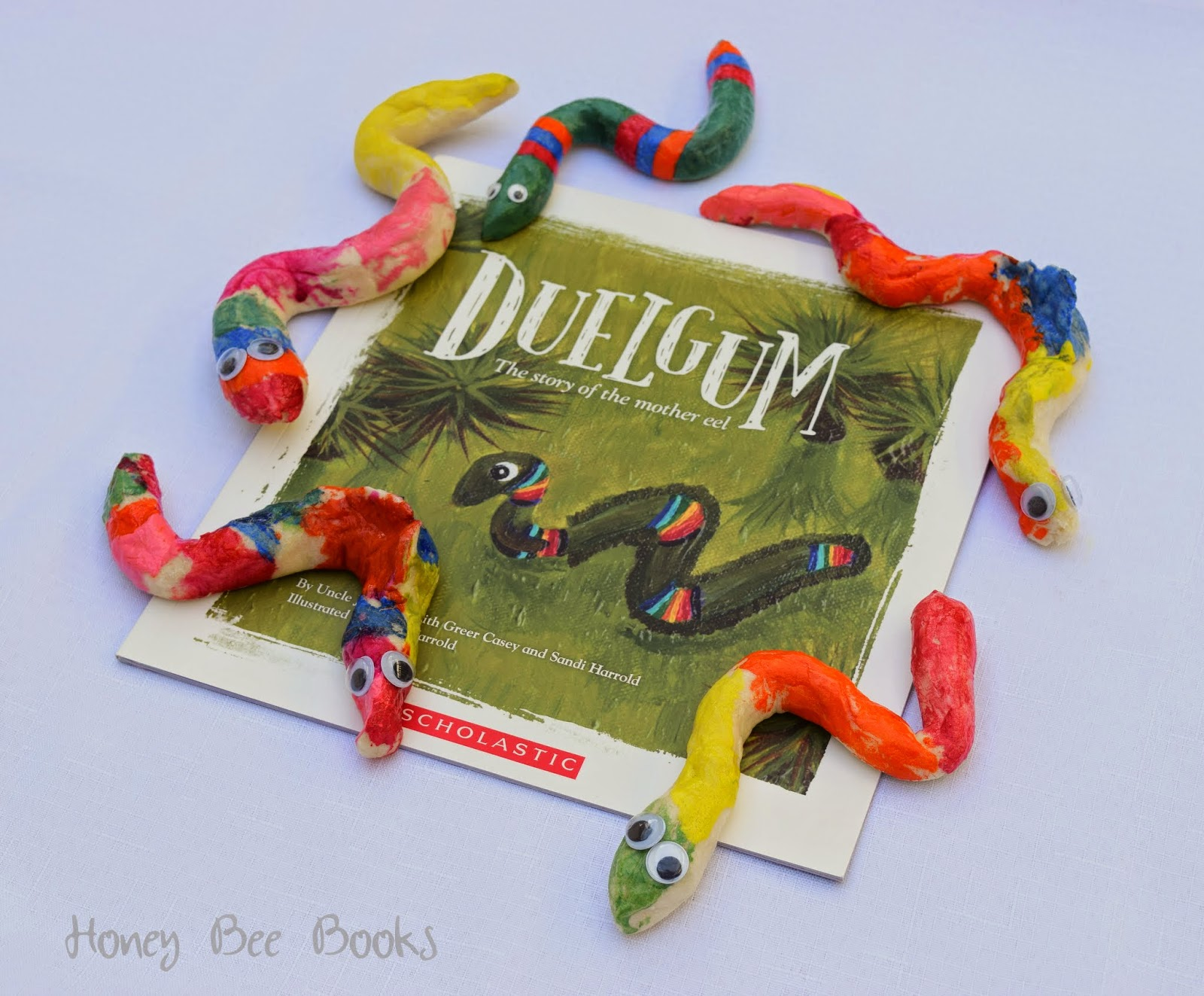 Picture book review of Duelgum and salt dough eels