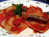 Ravióli de Espinafre com Tofu (vegana)