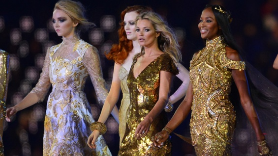 Lily Cole, Karen Elson, Kate Moss and Naomi Campbell