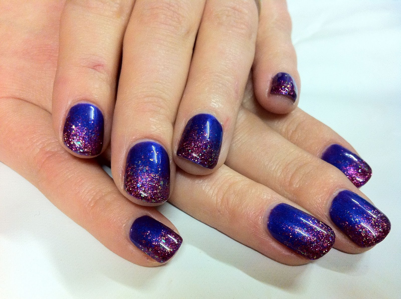 The Extraordinary Purple nails with glitter Image