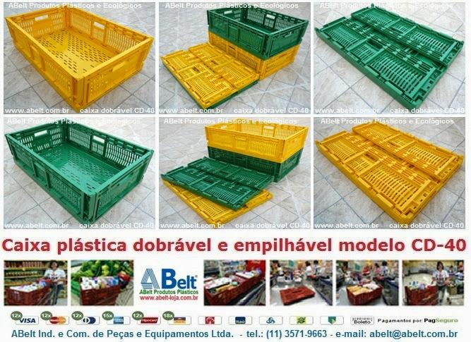 caixa organizadora de plástico