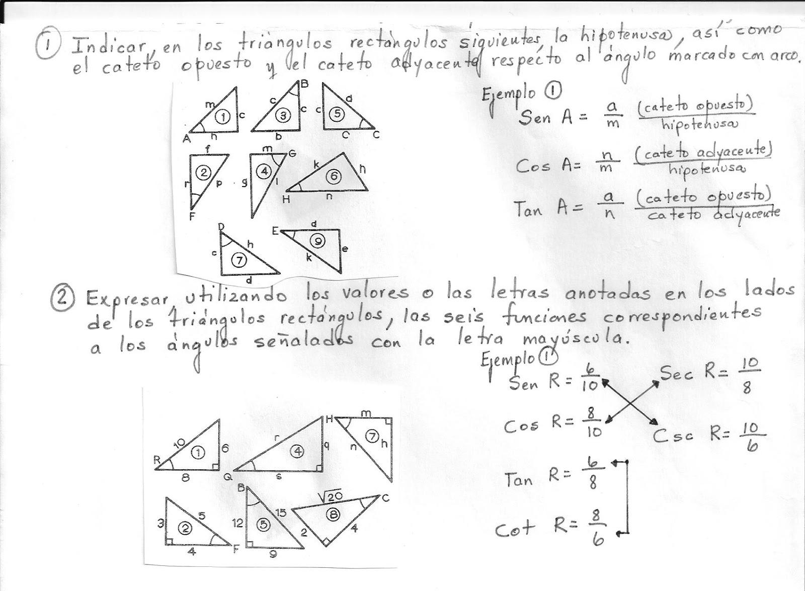 ejercicios de trigonometria: