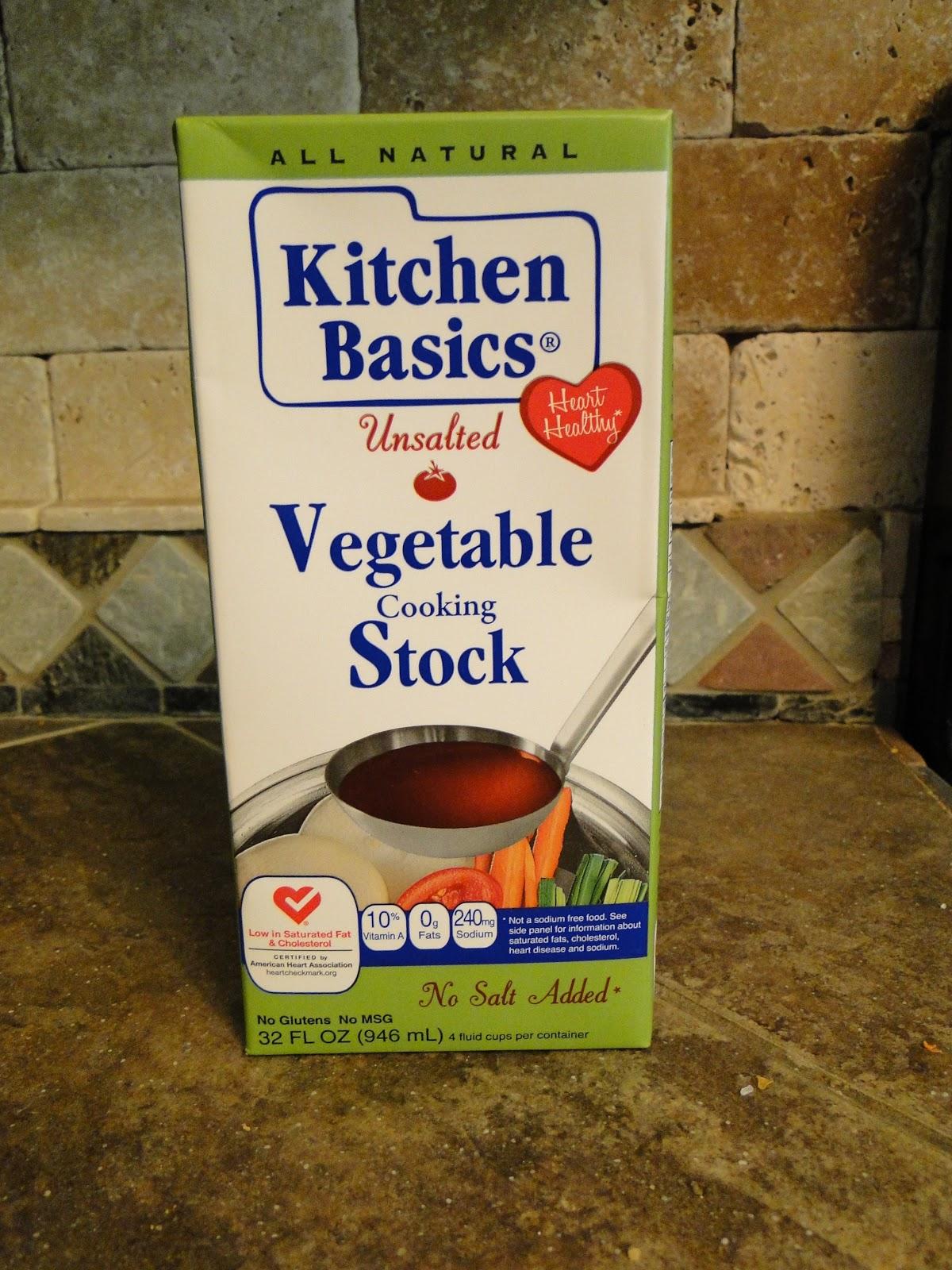 The store brand: Kitchen Basics - Natural Vegetable (no salt added):