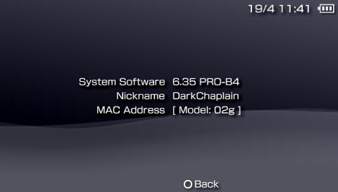 Home-PSP - Les versions 6.20, 6.35, et.