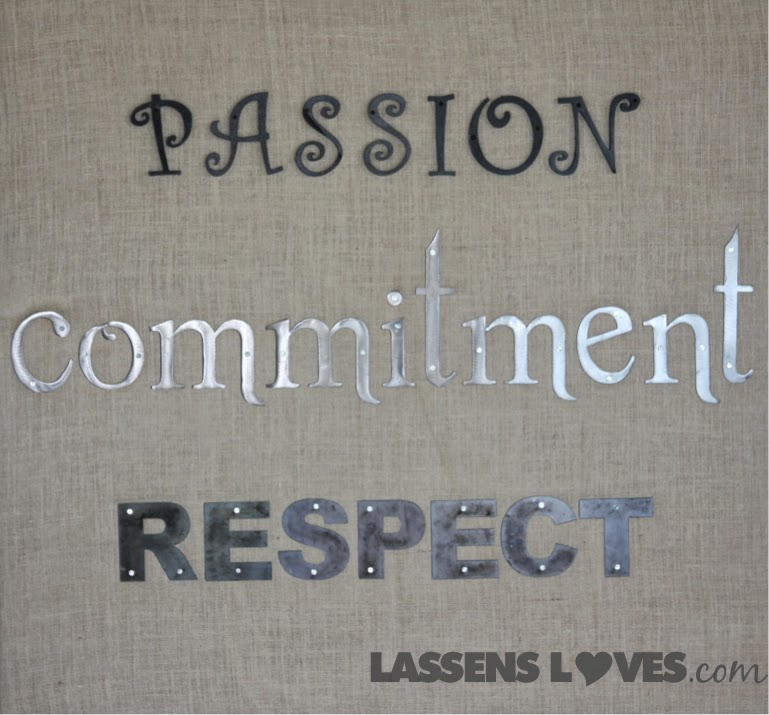 Lassens+core+values, passion+commitment+respect