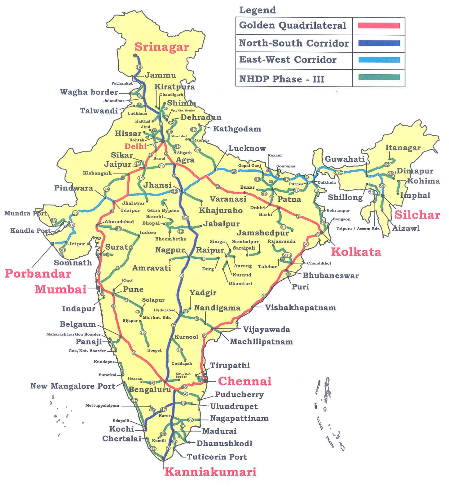 Important national highways in india gk planet download full map of national highways biocorpaavc