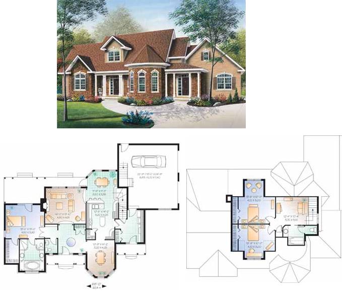 Planos de casas casas americanas planos - Casas americanas planos ...