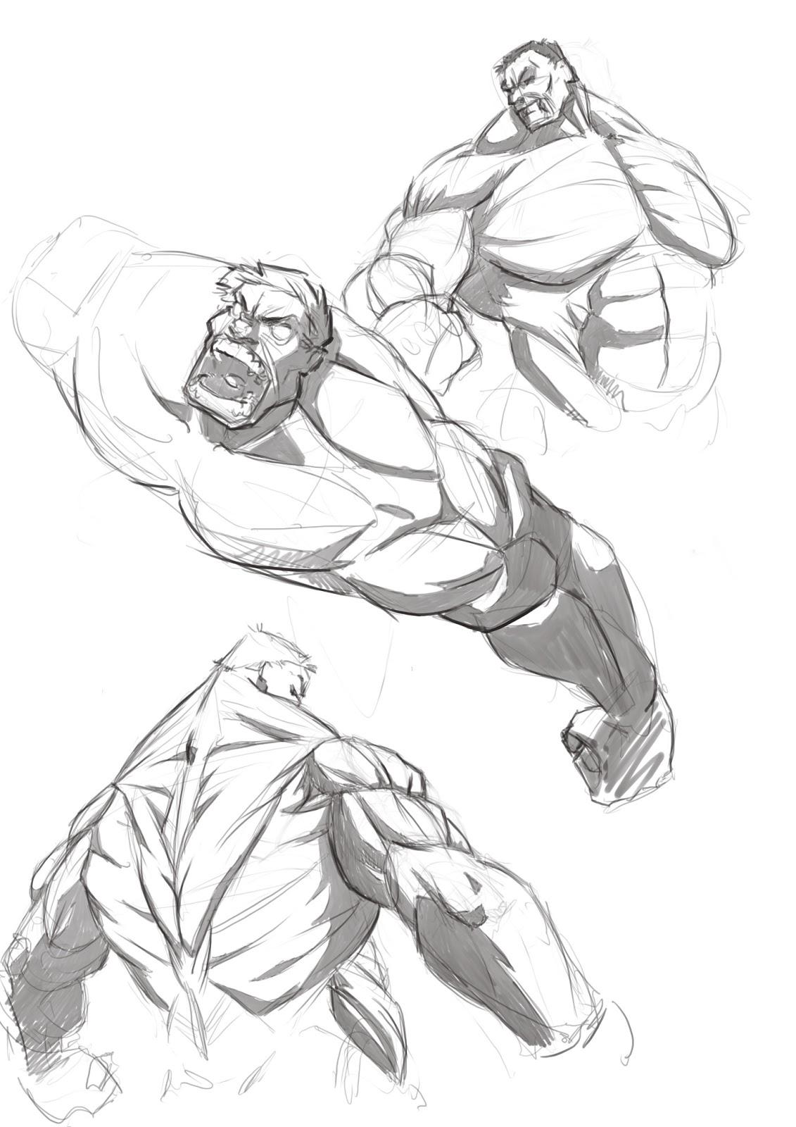 Art of Mark Sypesteyn: Hulk Sketches