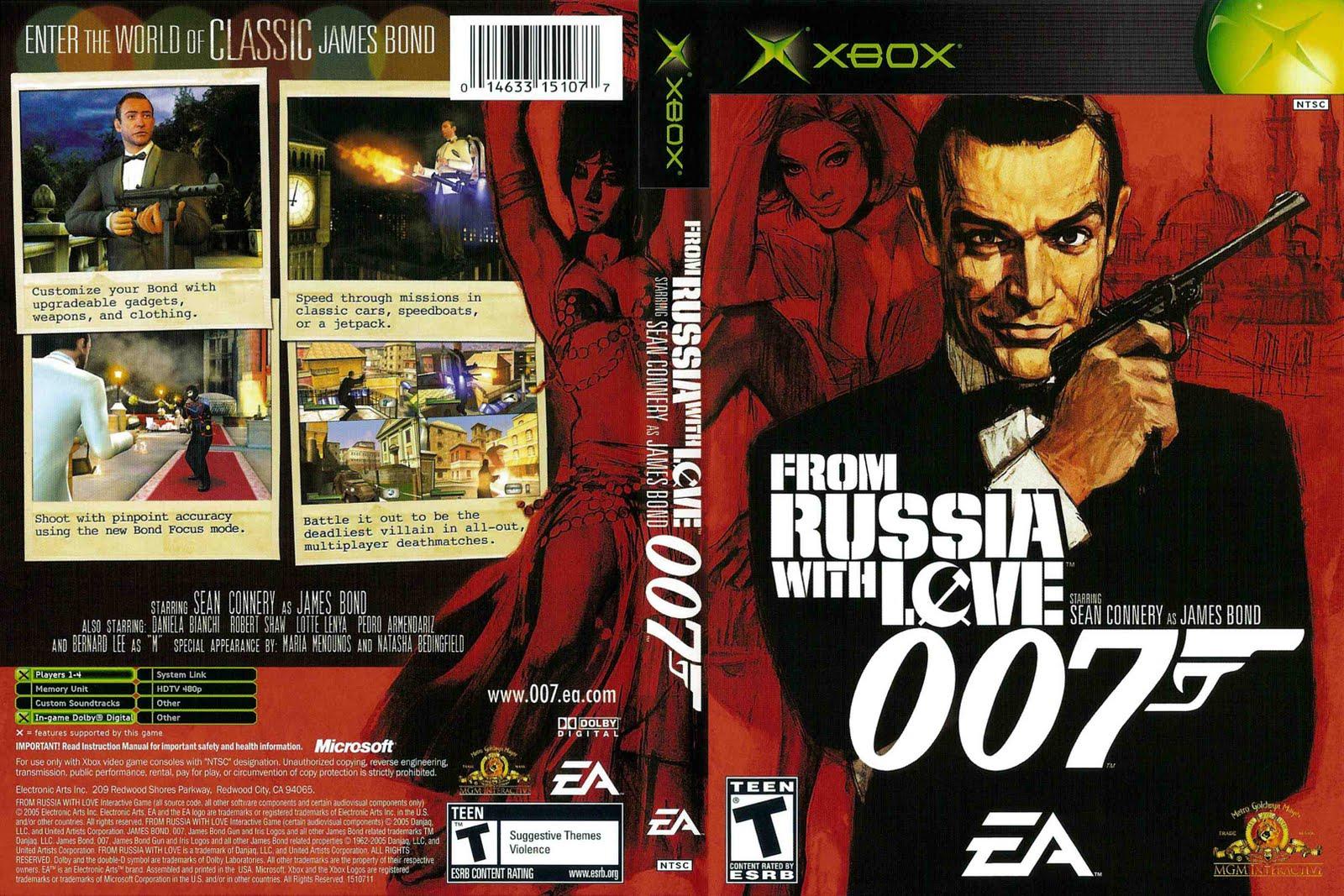caratula de 007 from russia with love xbox dvd super