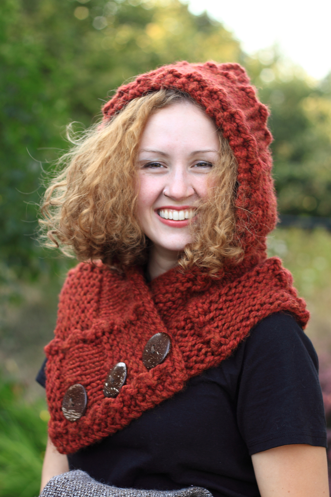 Fall Woods Quilt Squares Hooded Cowl
