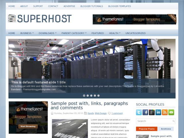 SuperHost Blogger Template