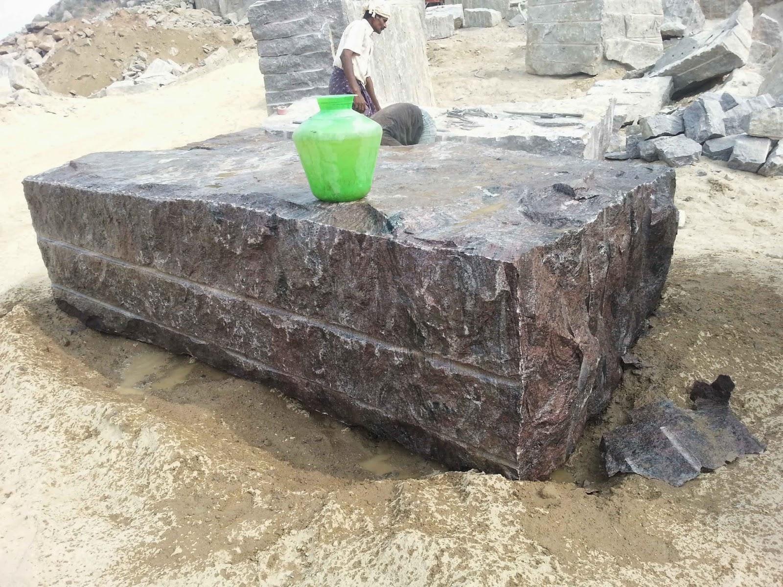 Seven Blocks Of Granite : Bengal black granite paradiso blocks under dressing