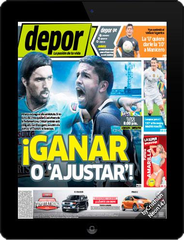 Diario Depor Perú (26 Noviembre 2015) ESPAÑOL - ¡Ganar o