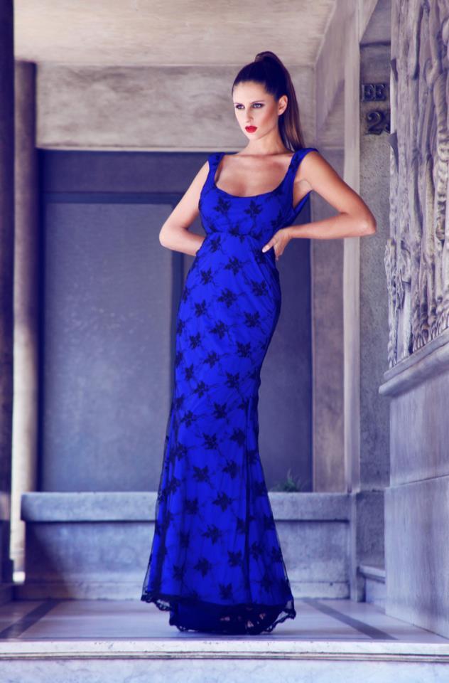Magnífico Vestido De Cóctel De Encaje Azul Regalo - Ideas para el ...