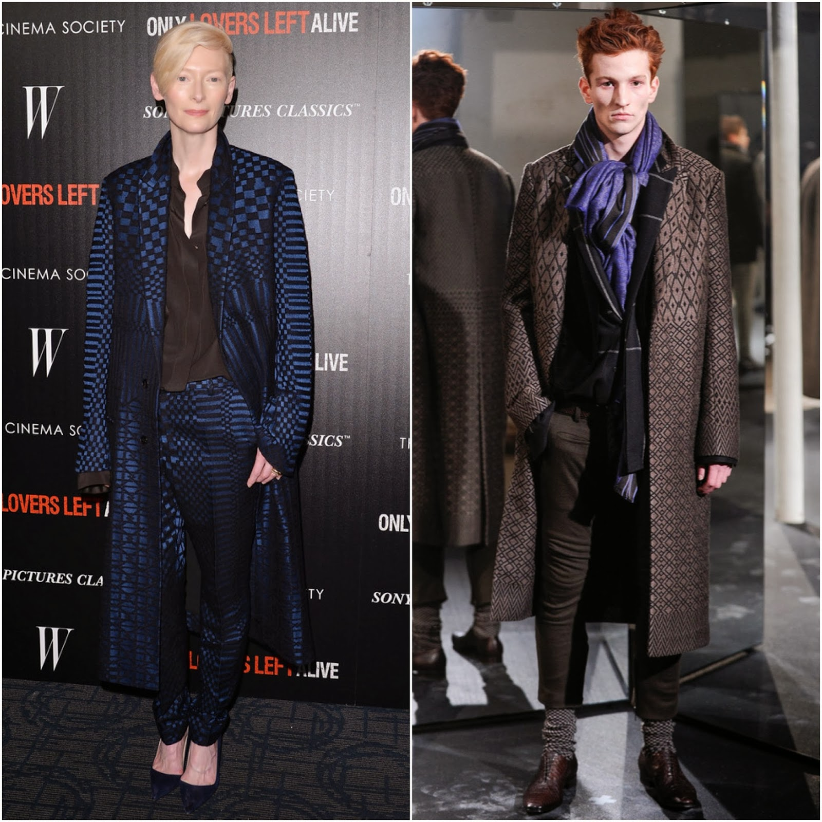 Tilda Swinton in Haider Ackermann - 'Only Lovers Left Alive' Screening