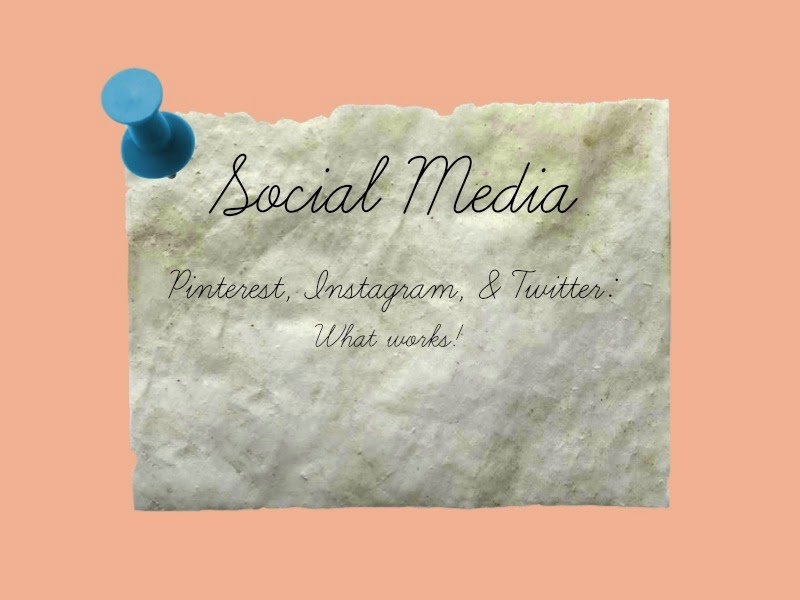 Social Media and Blogs - Pinterest and Instagram