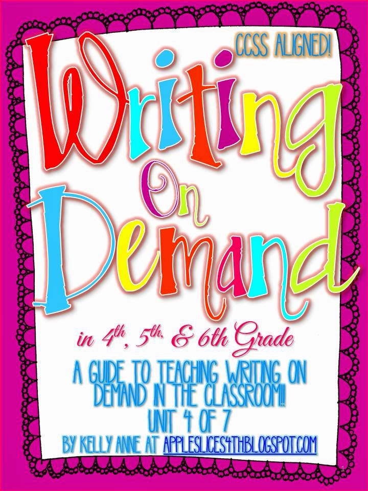http://www.teacherspayteachers.com/Product/Writing-on-Demand-a-4th-5th-6th-Grade-Writing-Unit-1092866