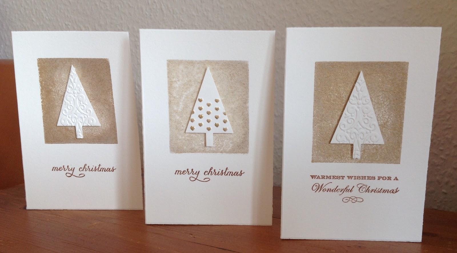 Weihnachtskarte, Stanze Tannenbaum von Stampin´up, Hintergrundstempel von HEINDESIGN