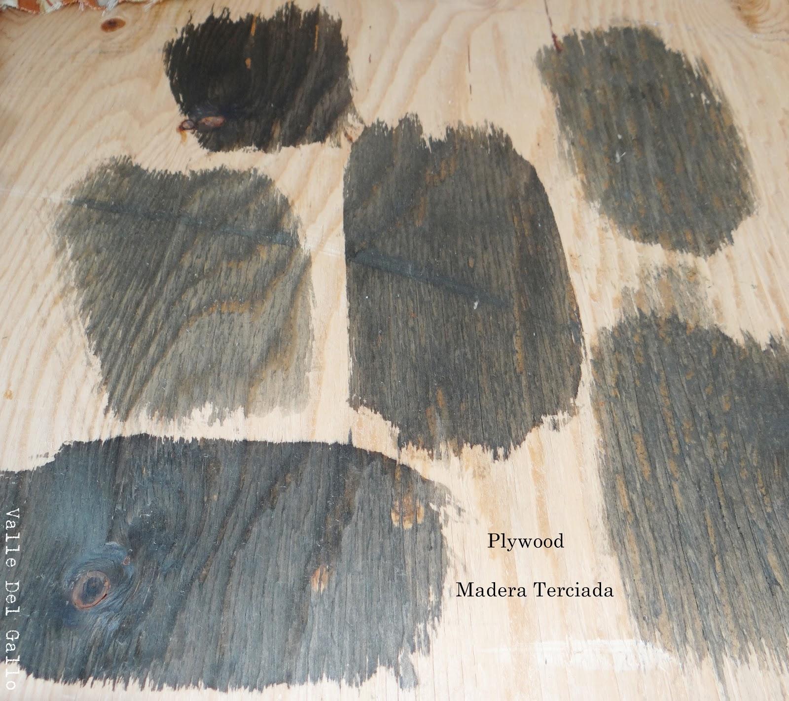 Valle del gallo tinendo madera con te vinagre lana de - Barniz al agua para madera ...