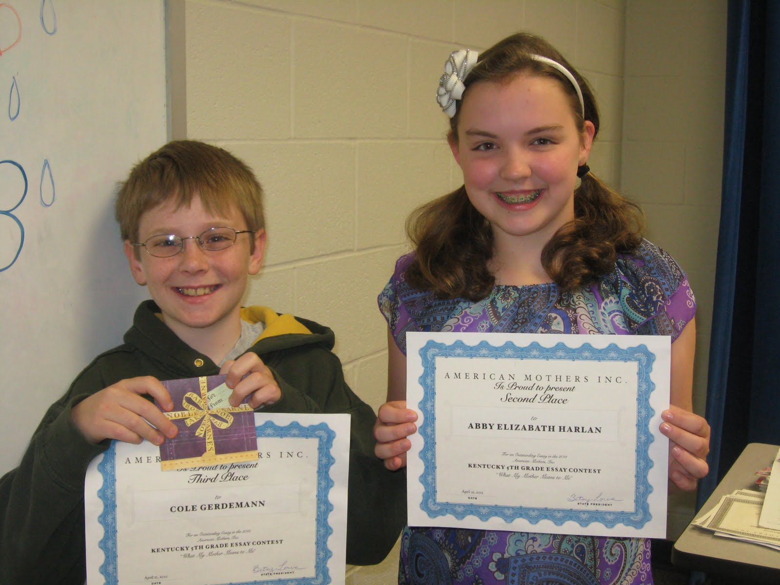 ... the essays, and the winners were announced at the awards ceremony