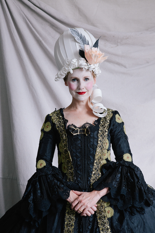 Make a Marie Antoinette paper wig and make up tutorial