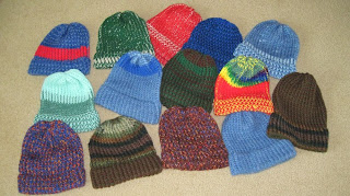 knitted loomed hats