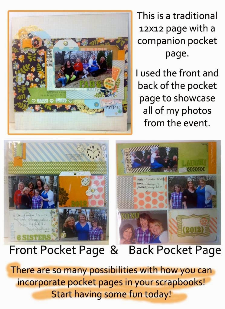 Scrapbook Page with Pocket Page