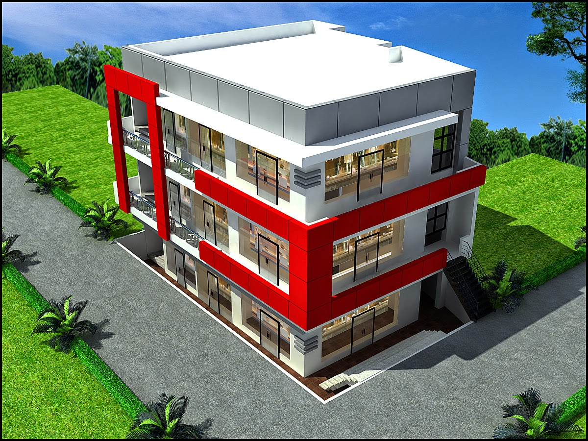 Ghar planner leading house plan and house design for Small commercial building design plans