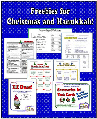 Freebies for Christmas and Hanukkah