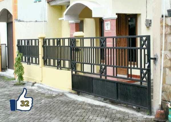 pagar besi rumah minimalis lengkap