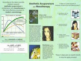 Flyer: The Art of Life Health Centre: Aesthetic Acupuncture and Mesotherapy