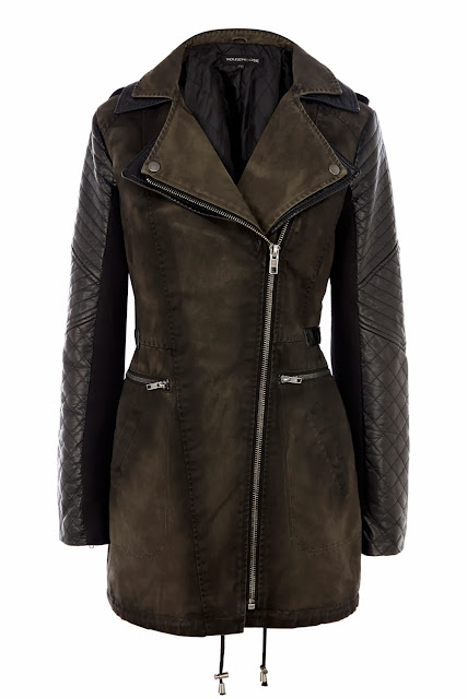 worn biker coat