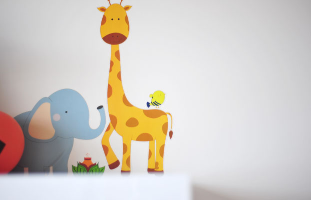 giraffe and elephant decals