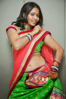 Actress Mithra half saree Pictures 015.jpg