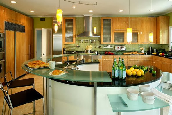 Isla circular para cocina for Most beautiful houses interior design kitchen