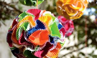 Enfeite de festa junina - Decoração com forminha de doces