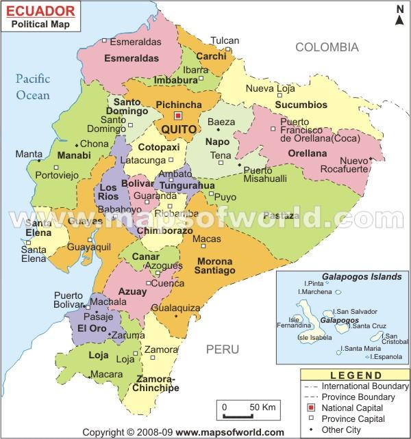 Ecuadordifferent Provinces For Different Folks La Tierra Sagrada - Ecuador provinces map