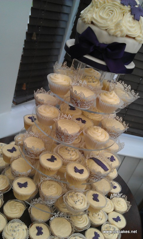 These were done for a wedding with a dark purple and ivory colour theme