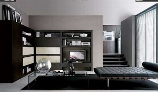 Italian black living room