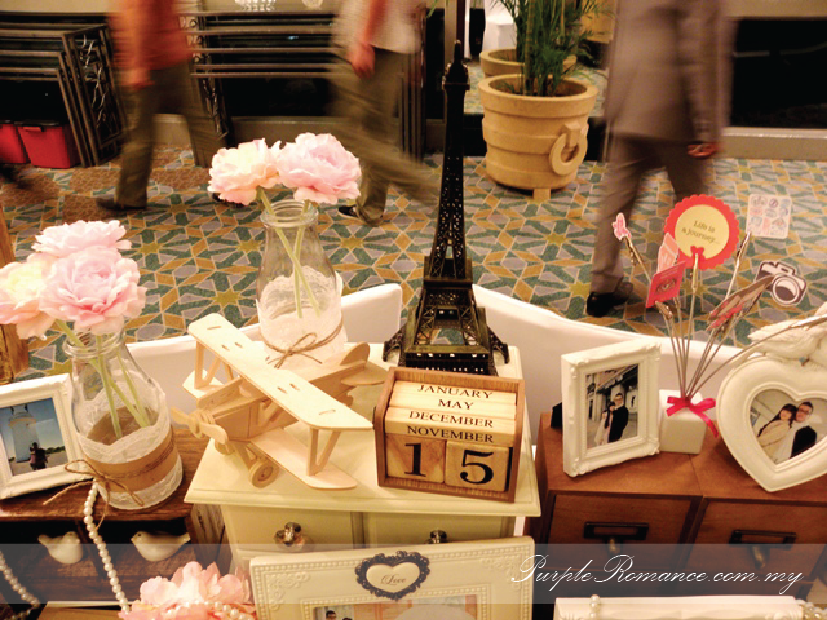Photo Album Viewing Table Decoration, Wedding, Sweet Love, pearls, love, malaysia, kuala lumpur, selangor, mandarin oriental hotel, grand ballroom, with parcel, travel theme, around the world, eiffel tower, aeroplane