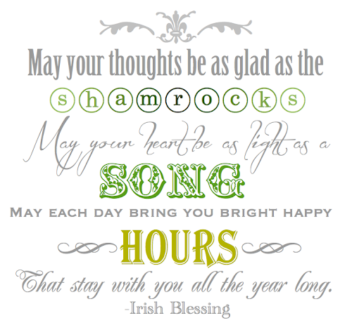 graphic about Printable Irish Blessing called BLISSFUL ROOTS: An additional Irish Blessing Printable