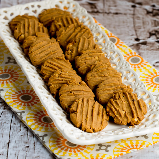 ... Flourless Sugar-Free Peanut Butter Cookies that are also gluten-free