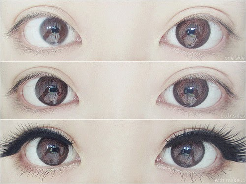 GEO HC201 brown colored contacts