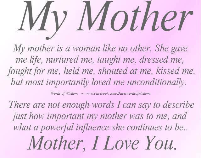 Quotes About Love Mother : mom mother sister dad daughter son happy birthday quotes love