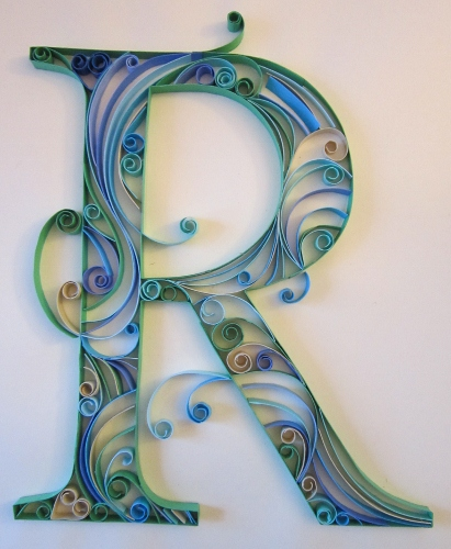 A can of crafty curiosities quilled monograms the letters c and r i had my hand again at doing some more monograms with paper quilling i really like the way these turned out even more than the first ones i did altavistaventures Choice Image