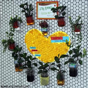 Plantas en la pared, en la estación de Yeongdungpo